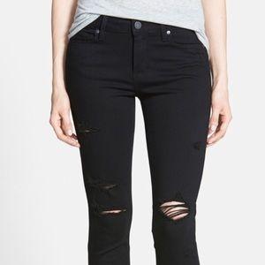 Paige Distressed Verdugo Ultra Skinny Jeans